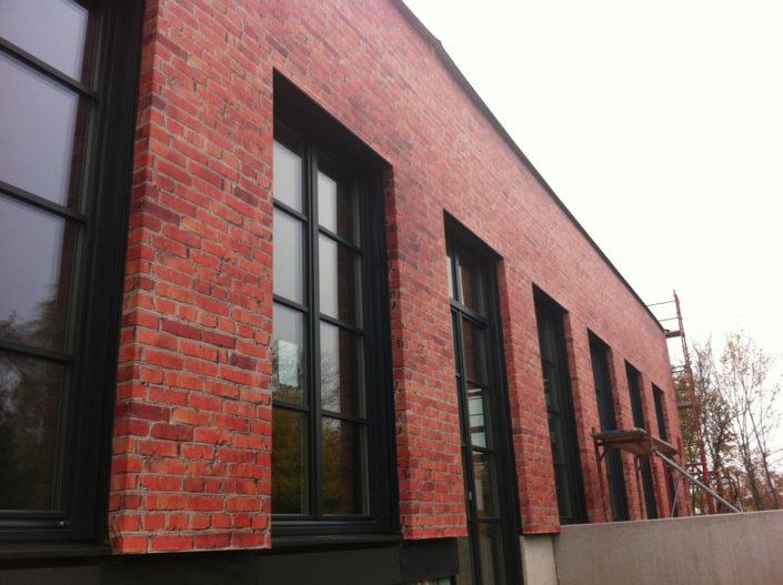 Textilfassade, Textilspannrahmen, Privat, Linz