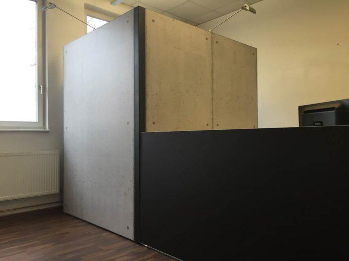 Textilspannrahmen, Sichtschutz, Raumtrenner, Büro