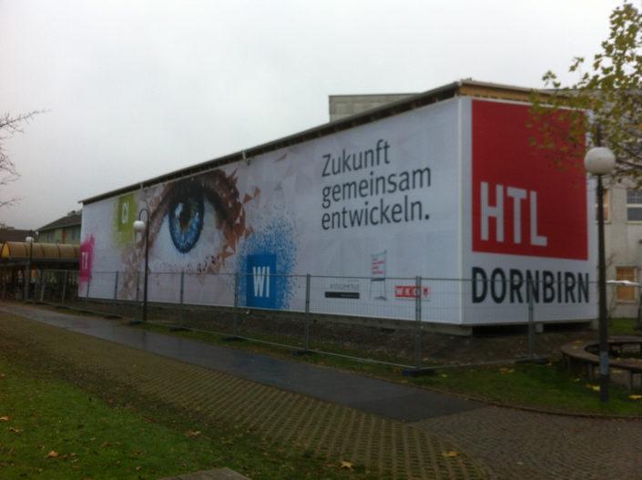Containerverkleidung Schule, HTL Dornbirn