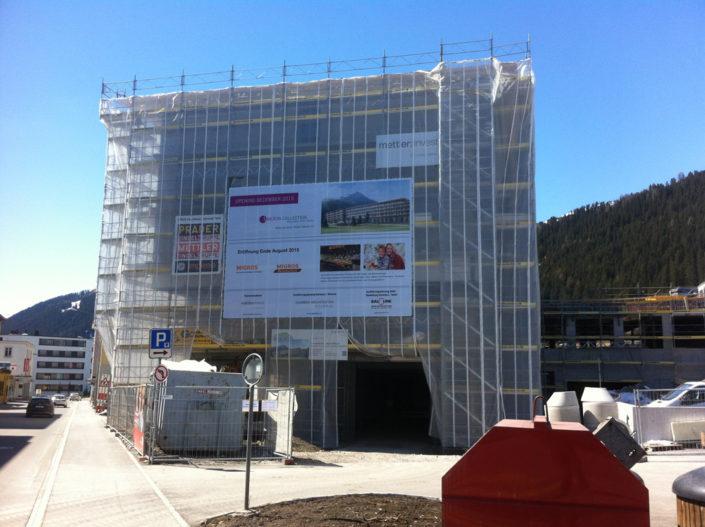 Gerüstwerbung, Davos