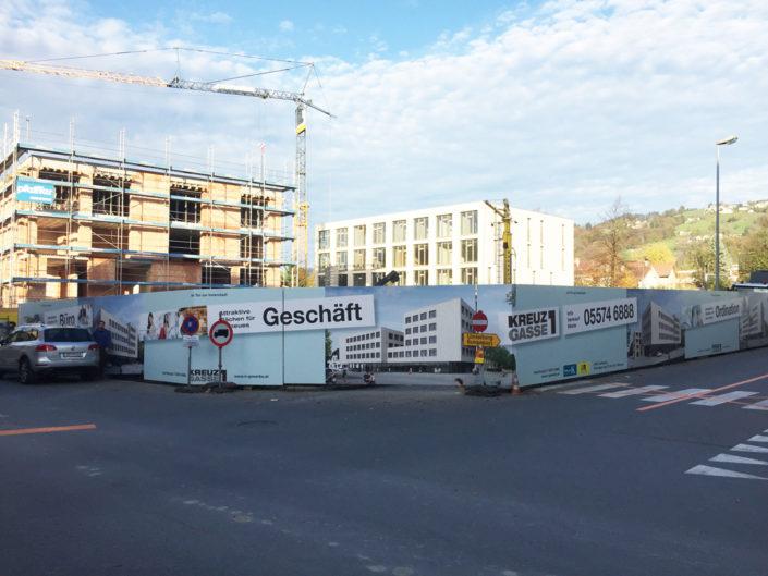 Bauzaun, Montage, 75m, Klimmer-Schertler