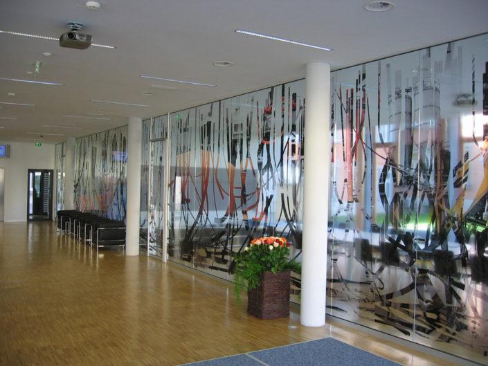 Verklebung, Werbetechnik,Sichtschutz, Rhombergbau, Bregenz