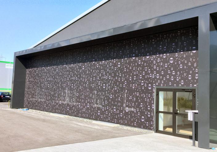 Textilfassade, Auto Linher, Lichtenstein