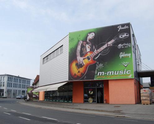 Textilfassade, M-Music, Lustenau