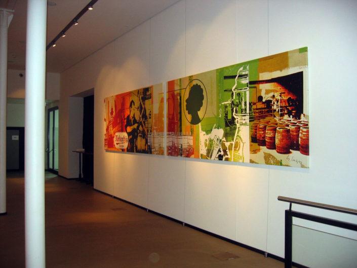 Textilspannrahmen, Abhänger, Mohrenbrauerei, Dornbirn