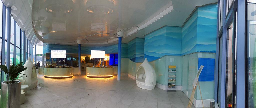 Akustikverkleidung Eingang Theme Schwarzwald