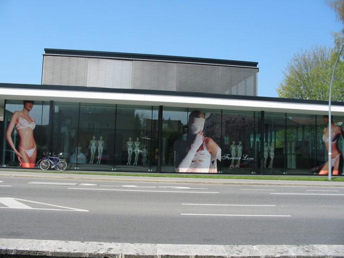 Verlebung, Schaufenster Wolford, Bregenz
