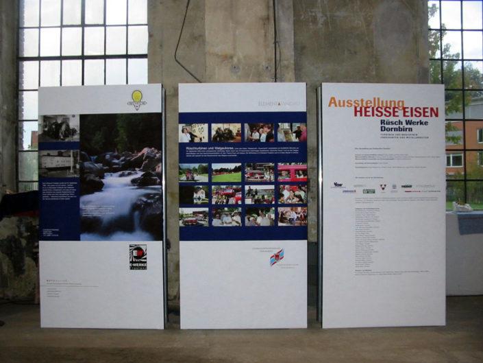 Raumtrenner, Aussteller, Steht, Ausstellung Rüsch, Dornbirn