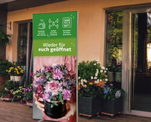 Blumenladen PopRahmen Infostele