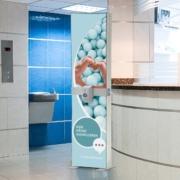 Desinfektionsmittelspender Schutzzonen
