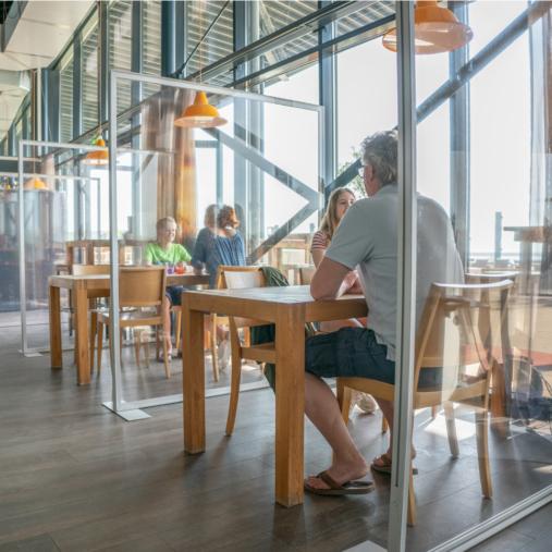 Schutzzonen Schutzwand Restaurant